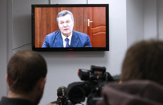 Ukraine's former president Viktor Yanukovych at the Rostov-on-Don region court