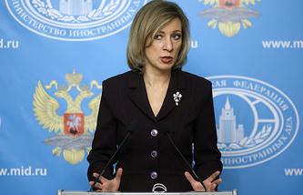 Foreign Ministry's spokeswoman Maria Zakharova