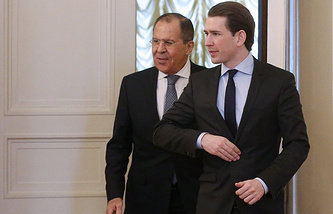 Russian and Austrian foreign ministers, Sergey Lavrov and Sebastian Kurz