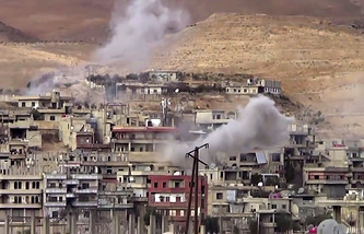 Shelling on Wadi Barada, northwest of Damascus