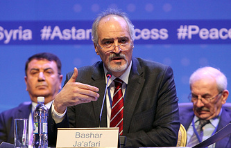 Head of the Syrian government delegation to Astana talks, Bashar Jaafari