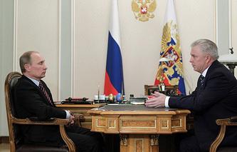 Vladimir Putin and Vyacheslav Nagovitsyn