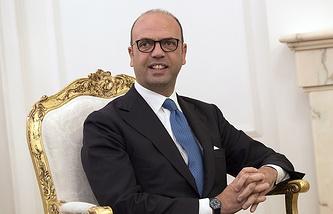 Italian Foreign Minister Angelino Alfano