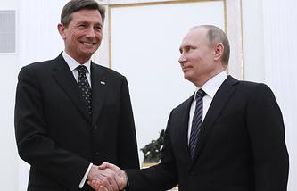 Slovenian and Russian Presidents, Borut Pahor and Vladimir Putin