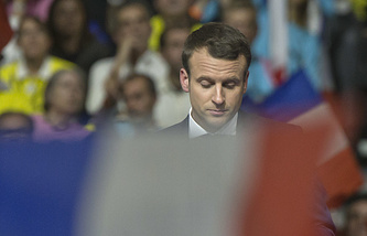 French presidential candidate Emmanuel Macron