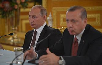 Russian and Turkish Presidents, Vladimir Putin and Recep Tayyip Erdogan, October 2016
