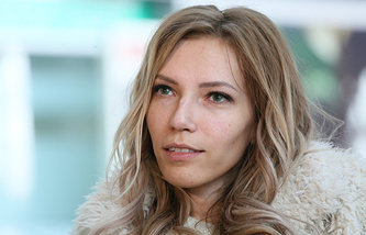 Singer Yulia Samoilova seen at Sheremetyevo International Airport