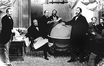 Signing the Alaska Treaty of Cessation, 1867