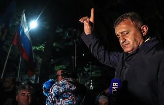 South Ossetian parliamentary speaker Anatoly Bibilov