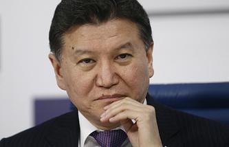 Kirsan Ilyumzhinov, the president of the International Chess Federation