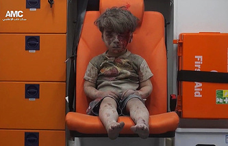 Omran Daqneesh, a Syrian boy whose photo became symbol of Aleppo's suffering