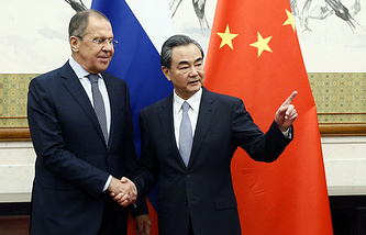 Russian Foreign Minister Sergey Lavrov and his Chinese counterpart Wang Yi