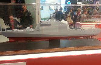 Model of the Project 20386-class corvette