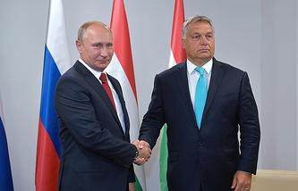 Russian President Vladimir Putin and Hungarian Prime Minister Viktor Orban