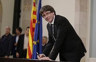 Catalonia's leader Carles Puigdemont