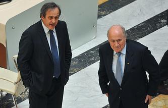 Former UEFA President Michel Platini and former FIFA President Joseph Blatter