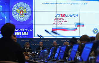 Russia's Central Election Committee meeting