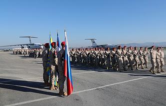 Russian military at the Hmeymim air base