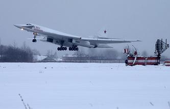 Modernized Tupolev-160 jet