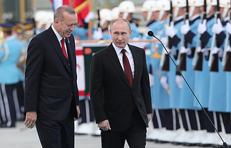 Turkish President Recep Tayyip and Russian President Vladimir Putin