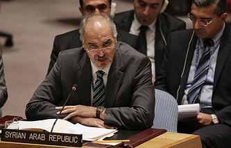 Syria's UN envoy, Bashar Ja'afari