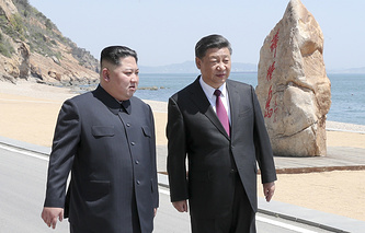 North Korean leader Kim Jong-un and Chinese President Xi Jinping