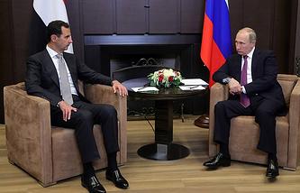 President Bashar al-Assad of Syria and Russian President Vladimir Putin