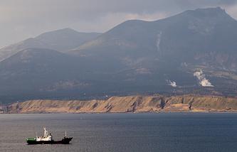 Yuzhno-Kurilsk Bay on Kunashir Island, the southernmost one of the Kuril Islands