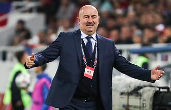Russian football team's head coach Stanislav Cherchesov