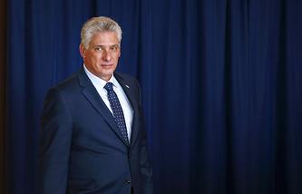 Cuba's President Miguel Diaz-Canel Bermudez