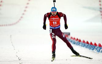 Russian biathlete Anton Shipulin