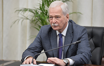 Russia's envoy to the Contact Group Boris Gryzlov