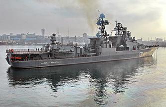 Russian Pacific Fleet destroyer Admiral Vinogradov