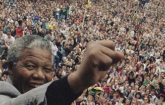 Выступление Нельсона Манделы в Амстердаме, 1990 г.