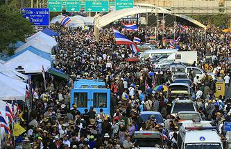 Блокада дорожного движения в Бангкоке