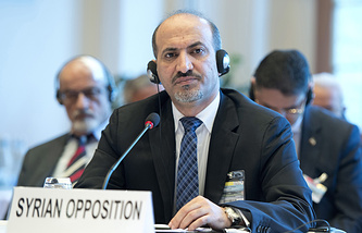Лидер Национальной коалиции оппозиционных и революционных сил Сирии Ахмед аль-Джарба