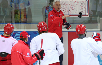 Тренировка сборной России в Сочи