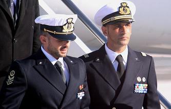 Итальянские морские пехотинцы Сальваторе Джироне и Массимильяно Латорре