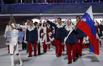 Сборная России на церемонии открытия Игр