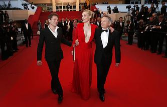 Роман Полански (справа) на кинофестивале в Каннах