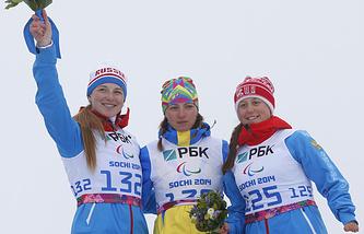 Алена Кауфман, Александра Кононова, Наталья Братюк (слева направо)
