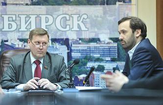 Анатолий Локоть и Илья Пономарев