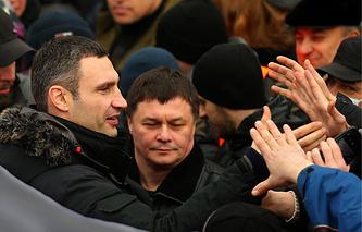 Виталий Кличко на площади Независимости в Киеве