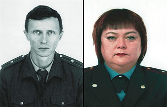 Майор полиции Сергей Воробьев и майор полиции Наталья Каячева