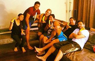 Халк вместе с семьей