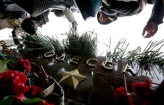 Москва. Акция в память о погибших в Одессе и на Юго-востоке Украины