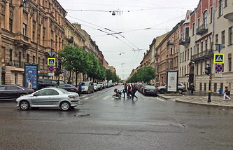 Вид на улицу Чайковского с Таврической улицы