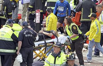 На месте трагедии 15 апреля 2013 года