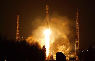 """Запуск РН """"Союз-2"""" со спутником нового поколения ГЛОНАСС-К с космодрома Плесецк"""
