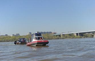 Река Обь в черте Новосибирска
